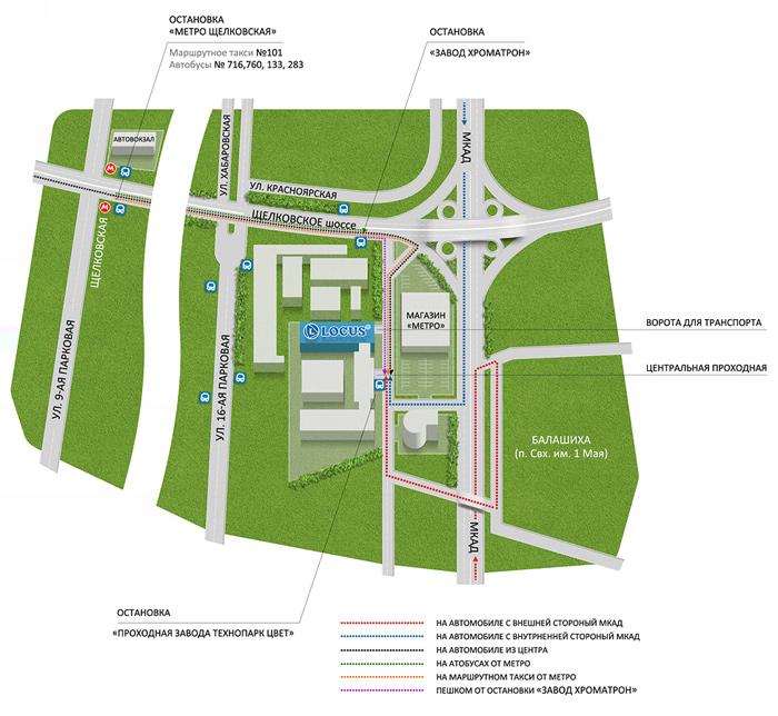 схема нового щелковского шоссе